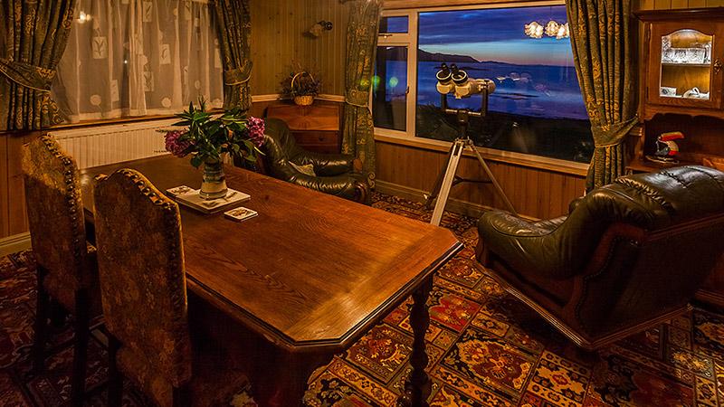 Ptarmigan Skye dining with a view